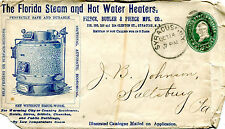 Vintage Illustrated Envelope FLORIDA STEAM & HOT WATER HEATERS 1892 Syracuse NY