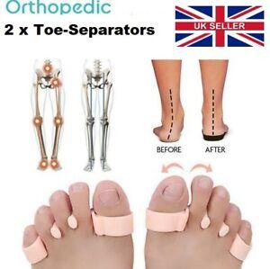 2 x Orthopedic Bunion Corrector Toe Separators Elastic Straighteners UK Seller