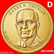 2015-D HARRY S. TRUMAN PRESIDENTIAL DOLLAR FROM US MINT ROLLS UNCIRCULATED