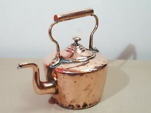 """Small Victorian Copper Kettle / Boiling Pot (Stamped """"4"""")"""