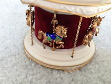 1979 Franklin Mint Igor Carl Faberge Carousel +14K Gold Brooches Diamond Ruby