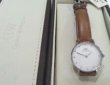 Daniel Wellington Armbanduhren mit Armband aus echtem Leder für Damen
