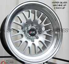 XXR 531 15X8 Rims 4x100/114.3 +20 Silver Wheels (Set of 4)