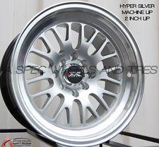 XXR 531 15X8 Rims 4x100/114.3 +20 Silver Wheels (Set of 4)
