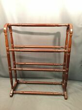 Bombay Company Vintage Quilt Towel Rack Queen Anne Style Display Stand