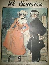 LE SOURIRE N° 12 JOURNAL HUMORISTIQUE DESSINS GRÜN ENGEL LE PETIT 1900