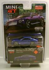 Bentley Continental Gt Blue Mijo Tsm Model Mini Gt Diecast 2020 Rare