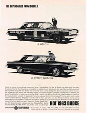 1963 Dodge 440 Wolf in Street Clothing Vtg Print Ad