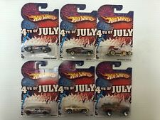 2010 Hot Wheels 4th Of July Complete Set Of 6 Cars