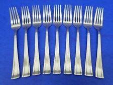 """9 - Cuisinart GEO Glossy 18/10 Stainless KOREA Flatware 7 3/4"""" DINNER FORKS"""