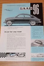 Saab 96 1960 Part Colour Sales Sheet