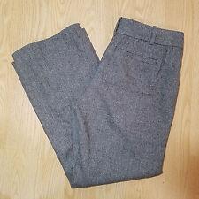 Ann Taylor Loft Womens Tweed Dress Pants Trousers Size 8 Petite Brown Lined Wool