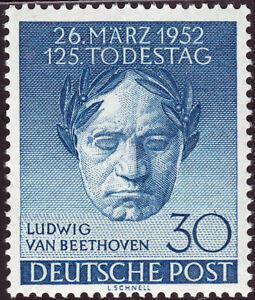 Berlin 87 125. Death Day By Ludwig Van Beethoven, Mint