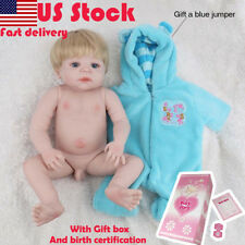 "22"" Full Silicone body Boy Reborn baby doll Boys Xmas Gift Toys anatomically New"