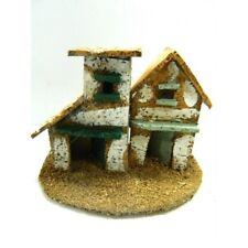 Casolare Paesaggio Pastori Presepe Casa in Resina Mod.3 Cm 3,5x3,5x9