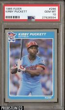 1985 Fleer #286 Kirby Puckett Twins RC Rookie HOF PSA 10 GEM MINT FLAWLESS
