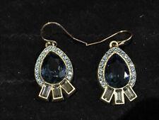Silpada KRW0030 BLUE STREAK Earrings Brass & Swarovski Crystal