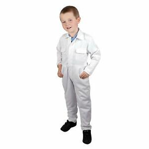 Kids White Boiler Suit Coverall Adult Halloween Caddy Toddler Baby Caddie Adult