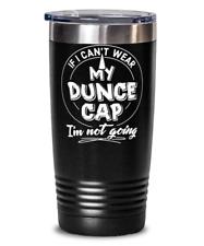 Funny Gift for Dunce Cap Hat Lovers - Cute Dunce Cap Tumbler Mug 20oz Black Stai