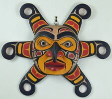 FIRST NATION STYLE CEREMONIAL SUN PLAQUE w/RAYS ~ CANADIAN ABORIGINAL STYLE