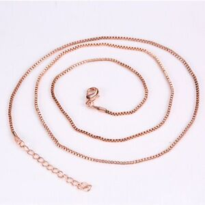 """600mm Silver/Gold/Rose gold Plated Box Link Chain For Locket Necklace 23.62"""" New"""
