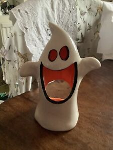 Halloween Ceramic Ghost Tea Light Candle Holder
