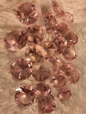 Pink Glass Diamond Wedding Decor
