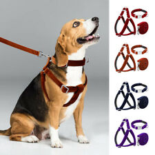 Reflective Dog Step In Harness&Collar&Leash Small Large Dogs Velvet Walking Vest