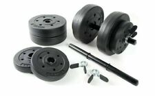 CAP Vinyl Adjustable 40LB Dumbbell Set Bar & Plates Weight Lifting Home Gym