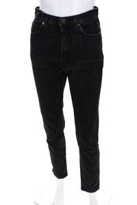 Rachel Comey Womens High Waist Straight Leg Jeans Black Size 2
