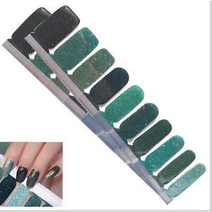 Jaysea Nails Polish Strips - Color Gradient Green Street Nail Art  - B4G1 Free!