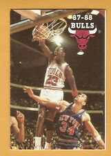 Michael Jordan 1987-88 Pocket Schedule Chicago Bulls Budweiser Ad