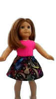 """Skirt and Tank Top Outfit fits American Girl dolls 18"""" Doll Clothes Music Notes"""