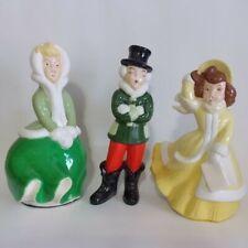 Christmas Carolers Hand Painted Ceramic Figurines Home Seasonal Holiday Decor