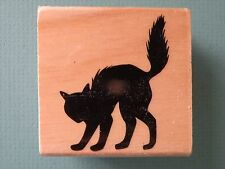 Cat Silhouette Arched Back  CRAFTSMART Rubber Stamp Halloween