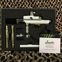 NEW Azodin KP3 Kaos Pump Tournament Paintball Gun Marker - White/Gold