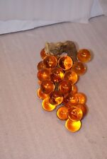 "Vintage Acrylic Lucite Grape Cluster On Driftwood Approx 10"" Long"