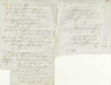 Le Tre Rose Ballata Manoscritta Inedita di Pietro Odaldi 1850 c.a