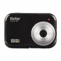 "Vivitar 4.1MP Digicam 4X Digital Zoom Digital Camera w/ 1.5"" Screen, Black (V46-"