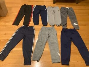 Boys XL Athletic Pants – 7 pair lot; Nike, Adidas, Puma, Under Armor (The Rock)