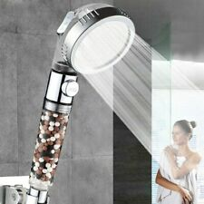 3-Spray Setting Filtered Shower Head High Pressure Water Saving Pause Function