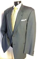 MANI by GIORGIO ARMANI Green Textured 2 Button suit 44L Pants 39W/30L