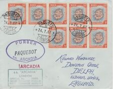Niue 4520 - Used in LISBON, PORTUGAL  1968 PAQUEBOT cover to UK