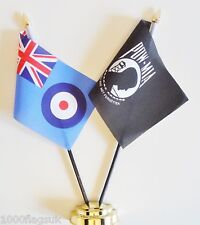 Royal Air Force RAF & Prisoner of War Missing in Action Friendship Table Flag