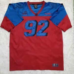 FUBU Sports Classic 92 Football Jersey Vintage 2000 Hip Hop XL Red Blue Rap Y2K