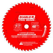 DIABLO 7‑1/4 in. x 48 Tooth Cermet Carbide For Cutting Metal D0748CF