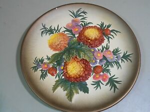 Floral Wall Plaque Chalkware W.H. BOSSONS Cheshire England1959