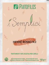 Phitofilos Hennè Rosso N.2 puro Lawsonia inermis  Henne ramato Arte d'Erbe 100g