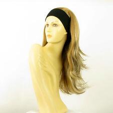 Perruque avec bandeau blond clair méché cuivré clair ref BENEDICTE en 15613h4