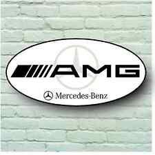 MERCEDES AMG LOGO 2FT LARGE GARAGE SIGN WALL PLAQUE CLASSIC SPORT CAR XJ XR